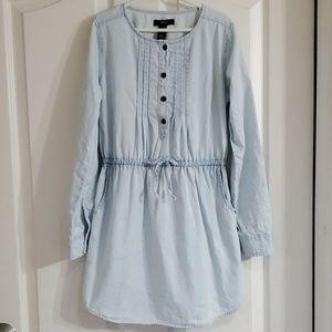 Gap Kids elastic waist chambray dress w/ pockets
